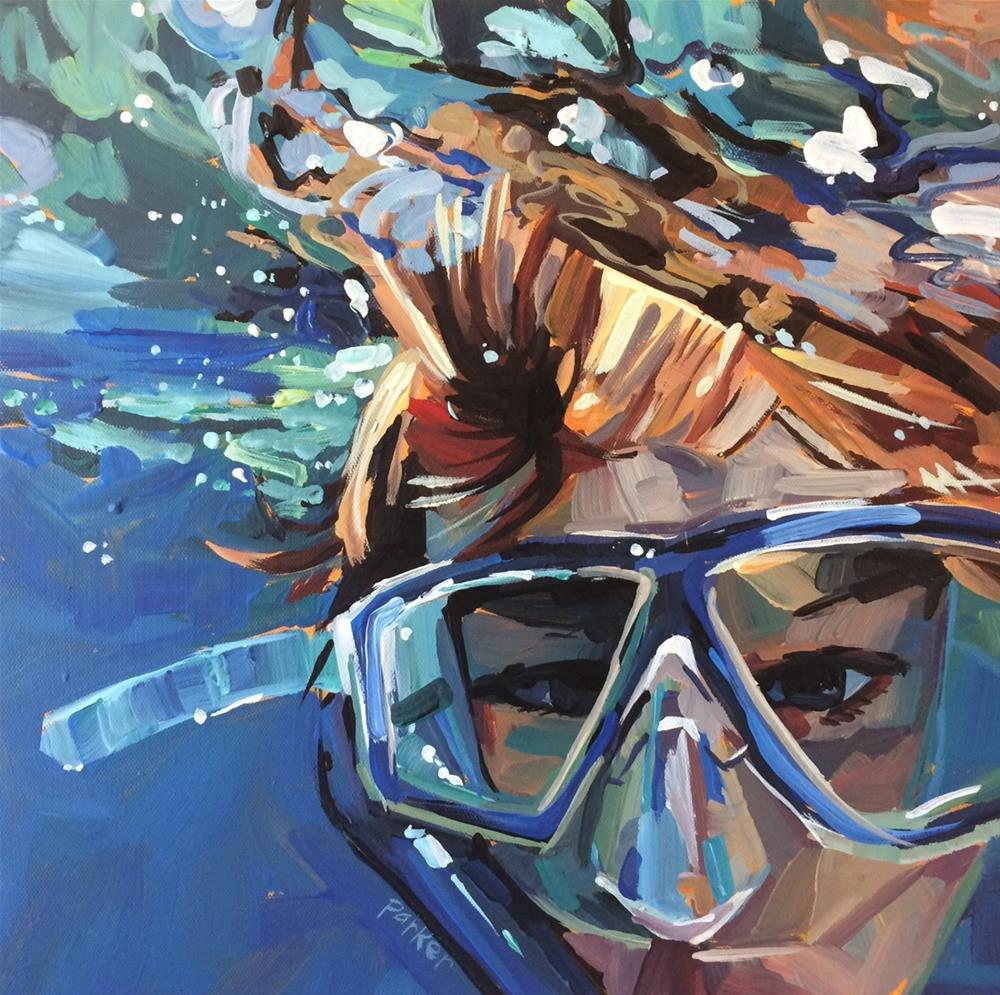 """Blue Goggles"" original fine art by Teddi Parker"