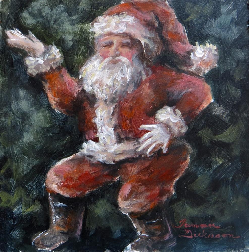 """Zumba Santa!"" original fine art by Tammie Dickerson"