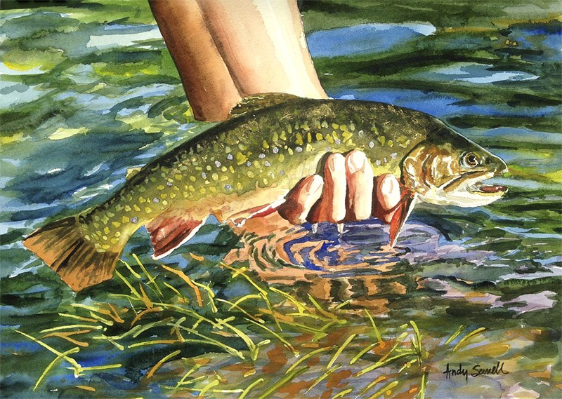 """The Brookie Release"" original fine art by Andy Sewell"