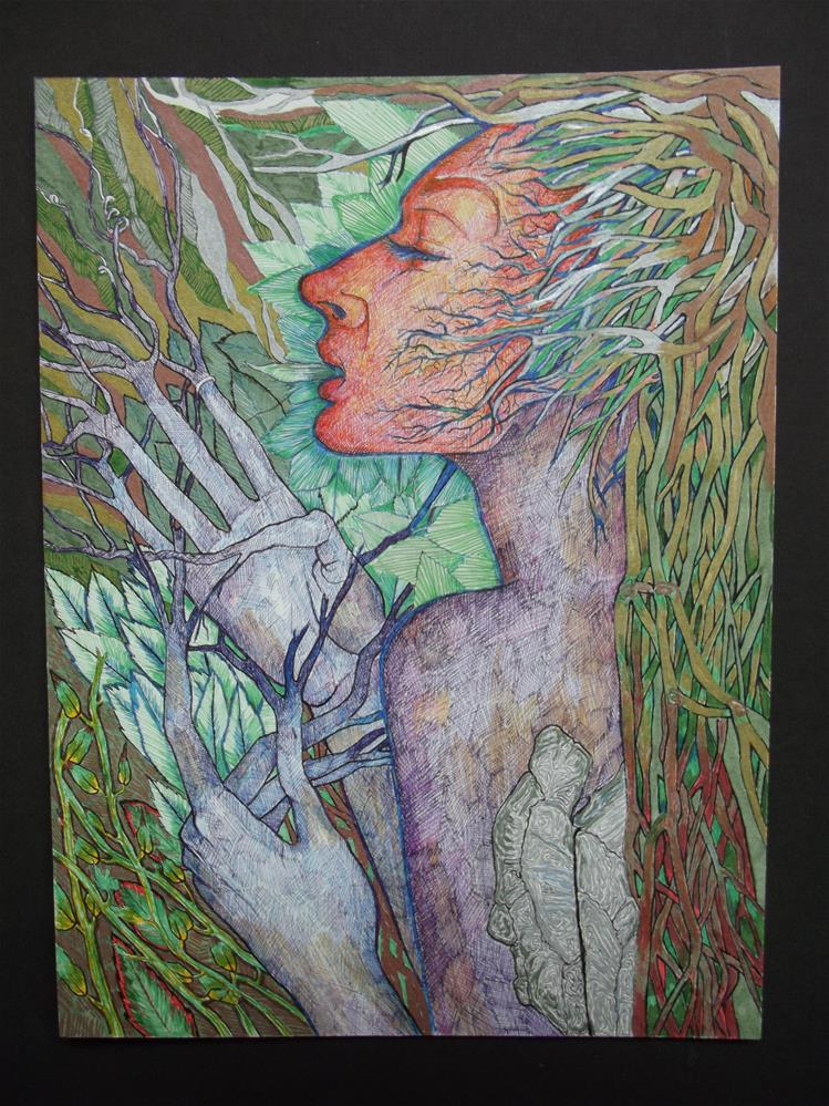 """Faerie"" original fine art by wanda sigafus"