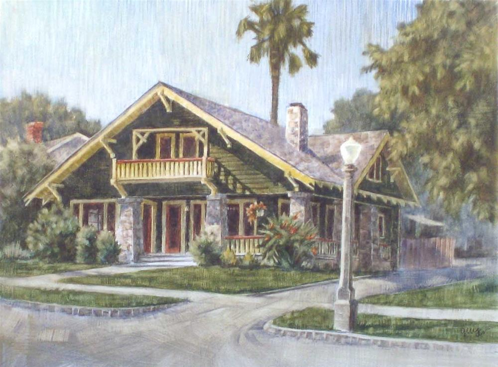 """A California Bungalow"" original fine art by Ginger Pena"