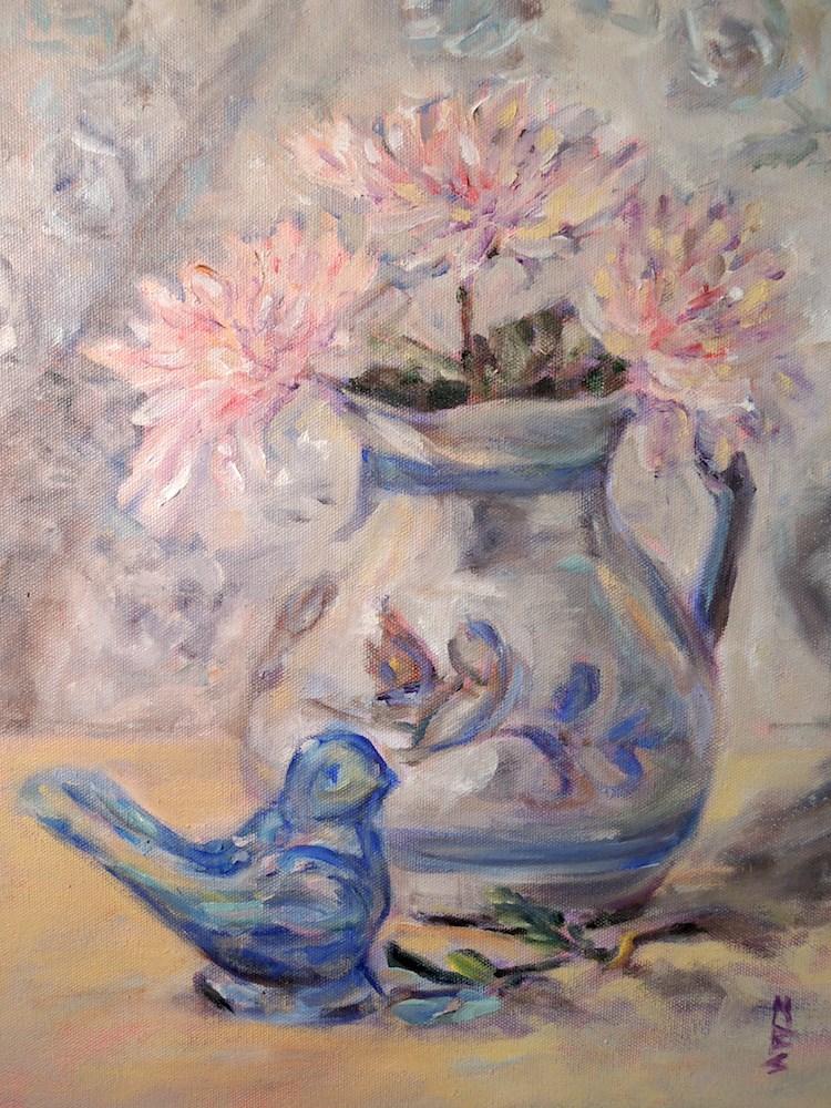 """Glass Bird"" original fine art by Mary Schiros"