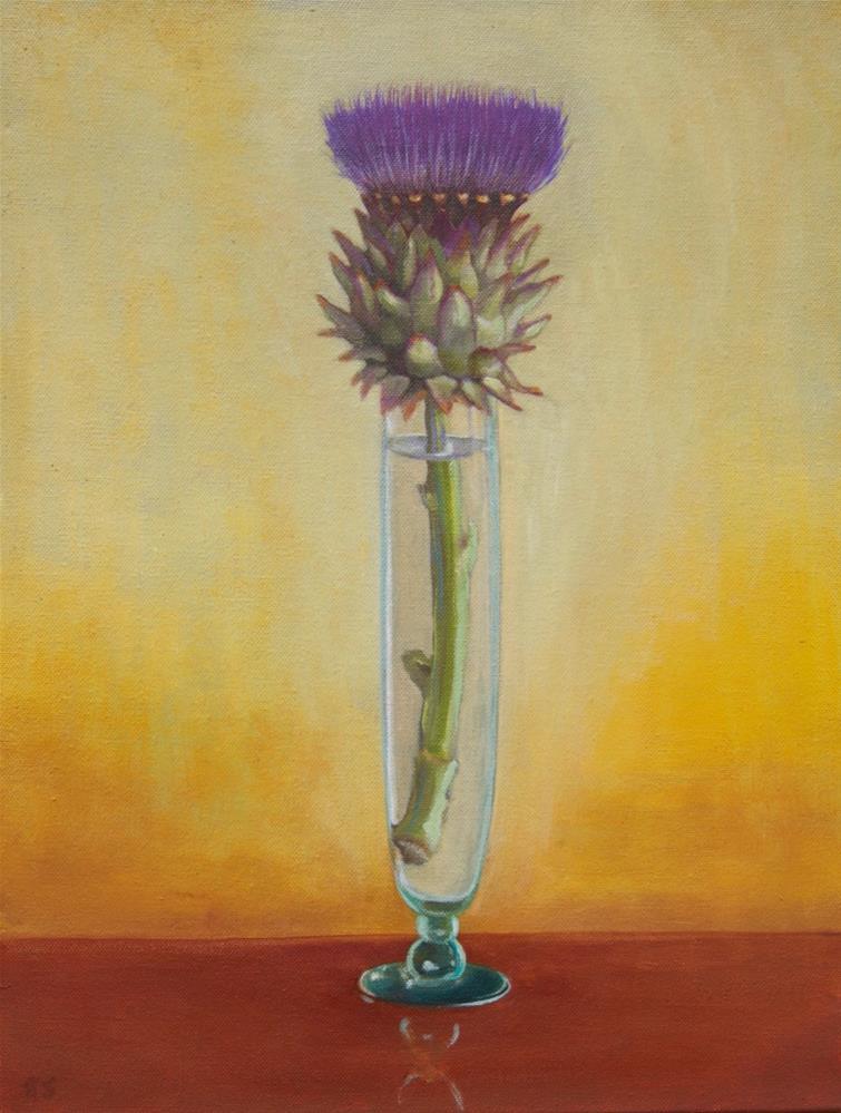 """""""Artichoke 2"""" original fine art by Karen Stitt"""