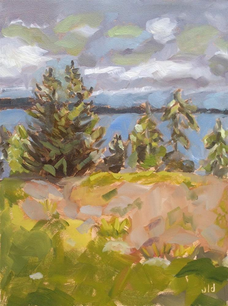 """Chemainus bluff"" original fine art by Jean Delaney"
