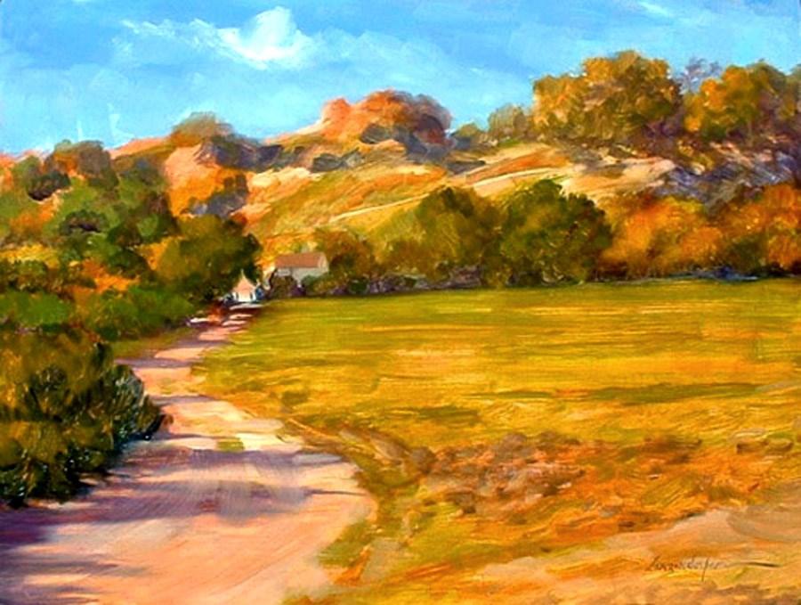 """FARM ROAD"" original fine art by Dj Lanzendorfer"