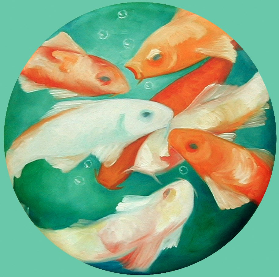 """Koi"" original fine art by Patricia Murray"