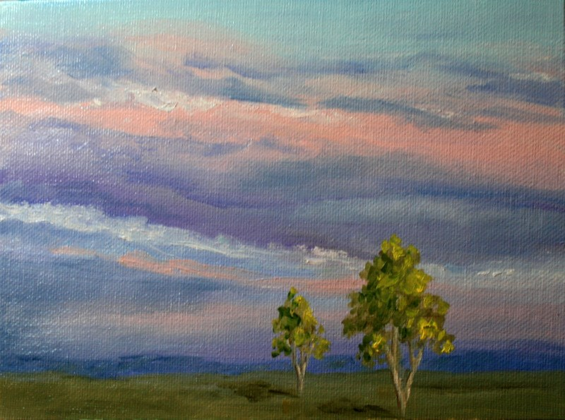 """End of the Day"" original fine art by Jean Nelson"