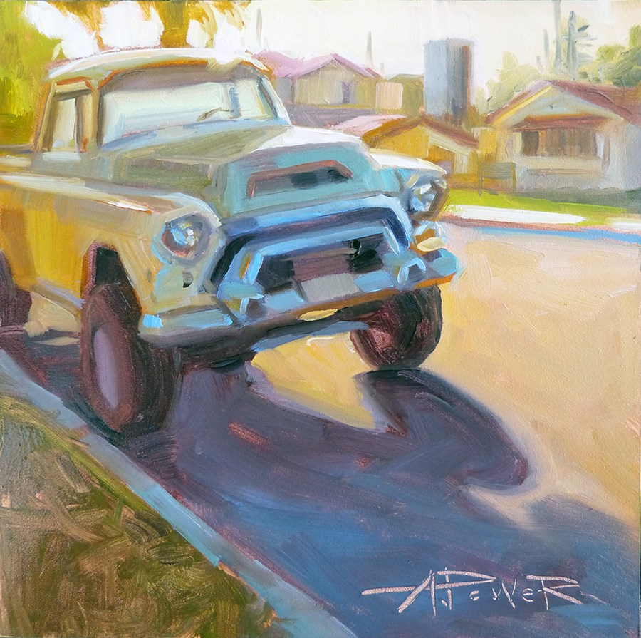 """Parked on Walnut"" original fine art by Anette Power"
