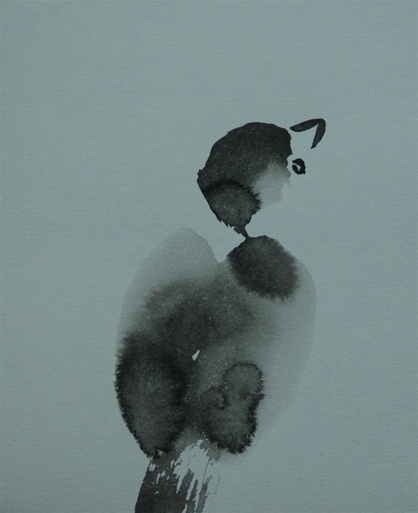 """Young sparrow"" original fine art by Ulrike Schmidt"