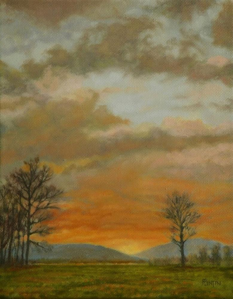 """March Evening"" original fine art by Peter Lentini"