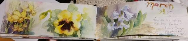 """Spring flowers"" original fine art by Wendy Starita"