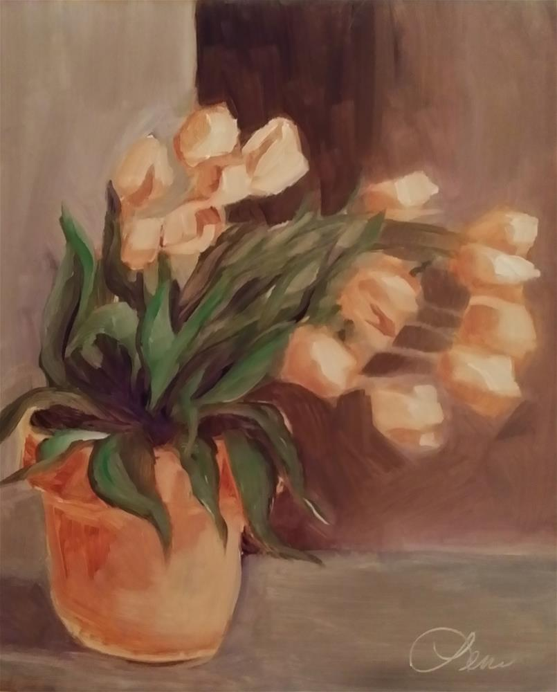 """More Tulips"" original fine art by Leni Tarleton"