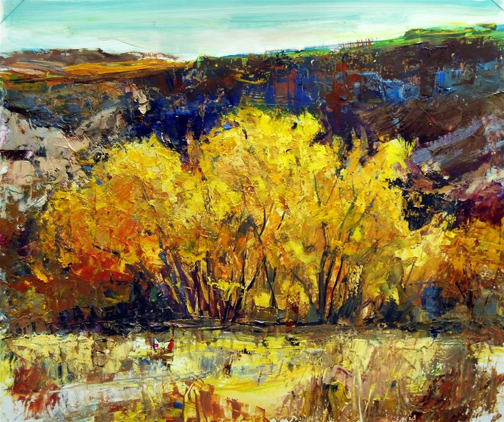 """Fall at Ghost Ranch, NM"" original fine art by Julie Ford Oliver"