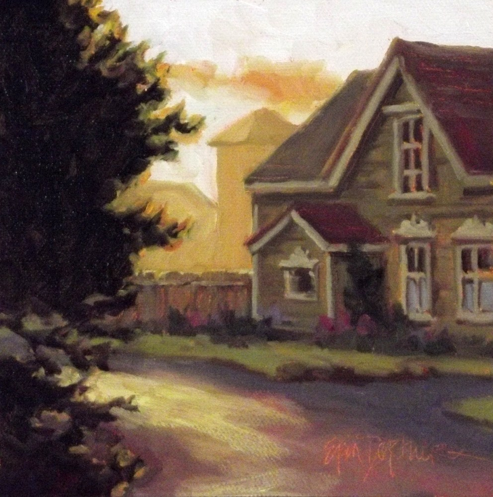"""Sunwashed Corner"" original fine art by Erin Dertner"