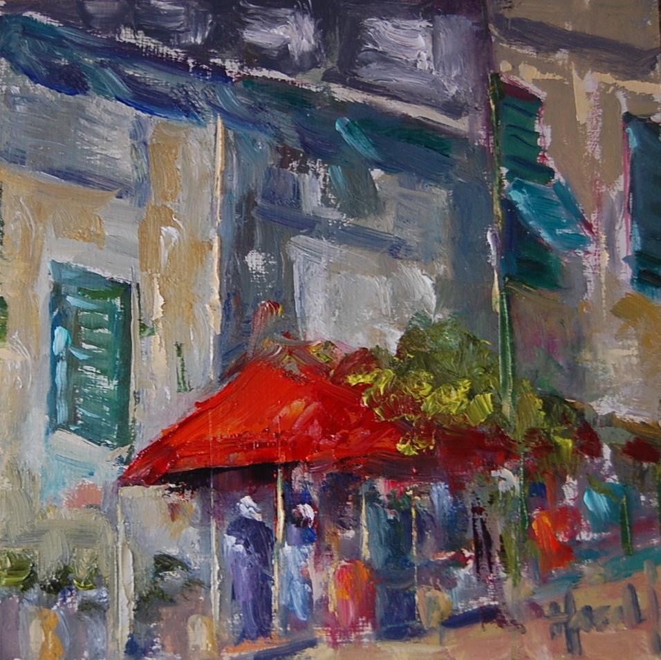 """Street Scene"" original fine art by Deborah Harold"