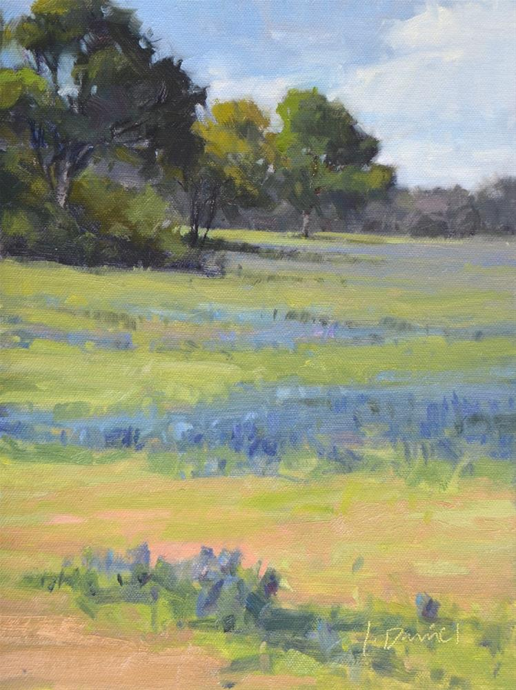 """Blue Meadow"" original fine art by Laurel Daniel"