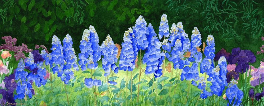 """Got The Blues"" original fine art by Jeanne Strohrmann"
