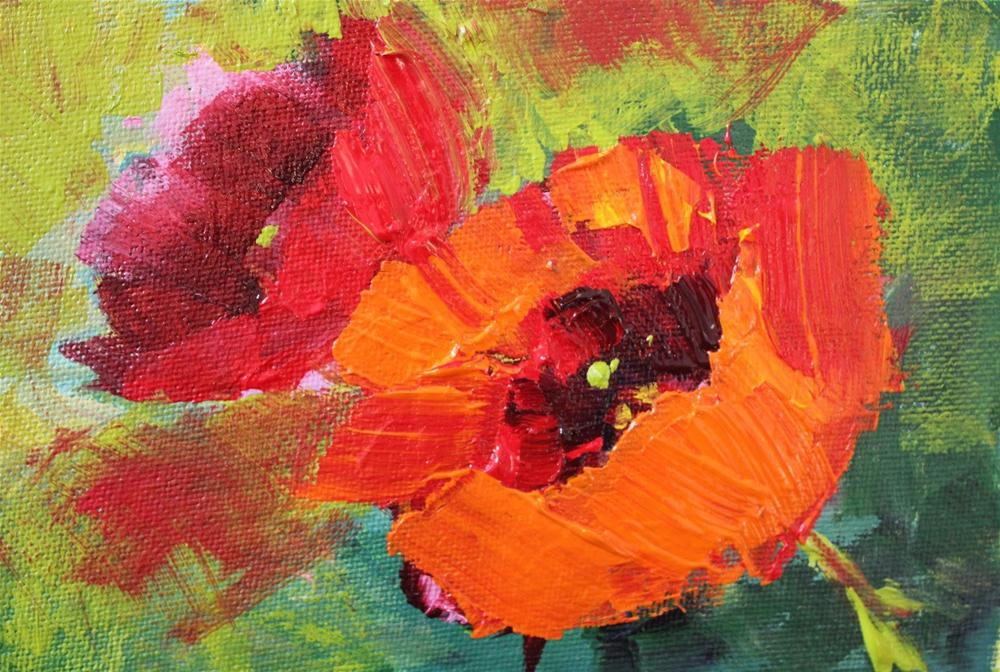 """Poppies"" original fine art by Amy Whitehouse"