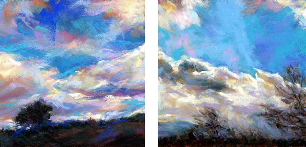 """FLYING . . .  IN THE CLOUDS - SOLD!"" original fine art by Susan Roden"