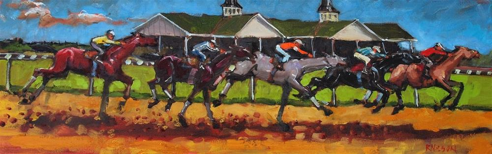 """(Meanwhile) At the Fairgrounds"" original fine art by Rick Nilson"