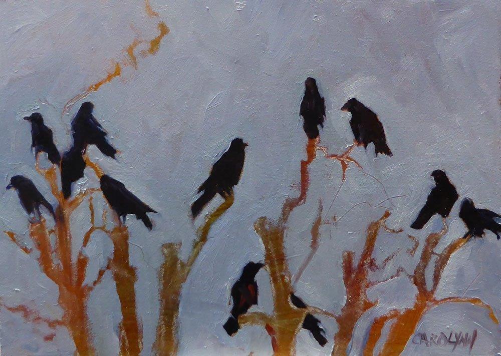 """""""The Murder"""" original fine art by Carolynn Doan"""