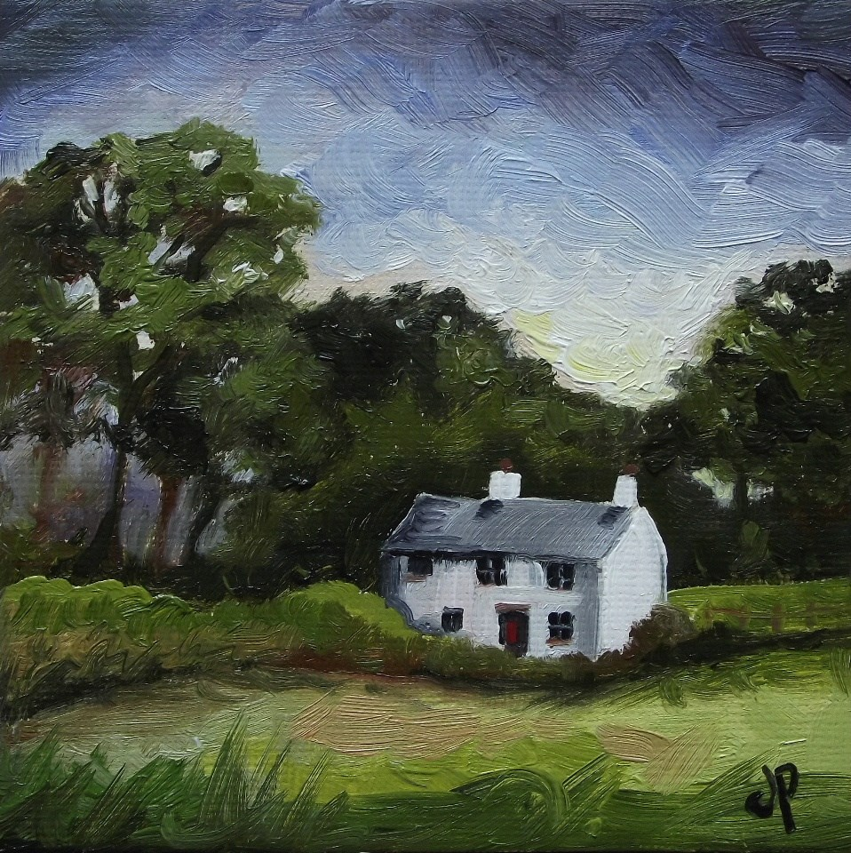 """Welsh Cottage"" original fine art by Jane Palmer"