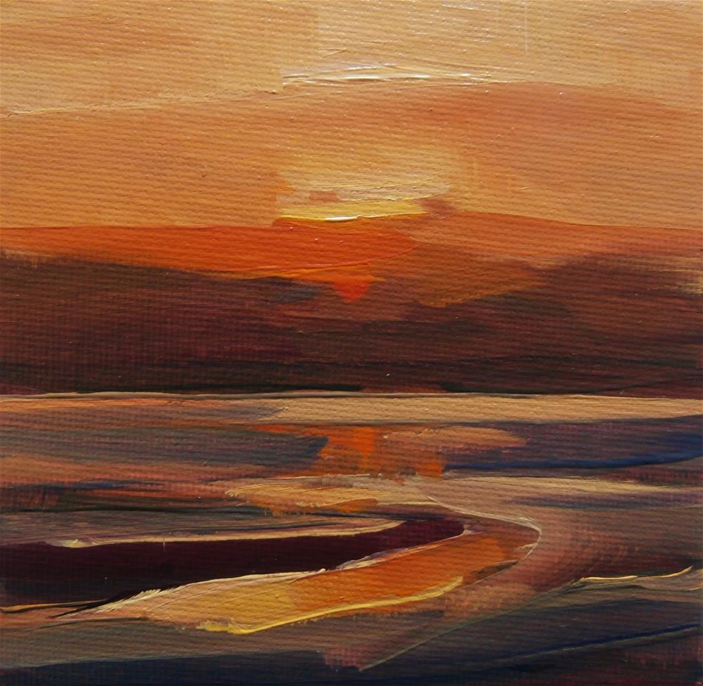 """New Dawn"" original fine art by Anne Wood"