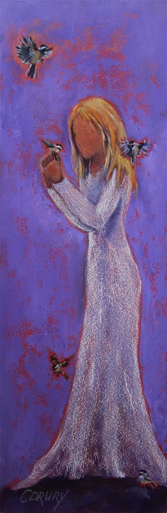 """My Little Chickadee"" original fine art by Colleen Drury"