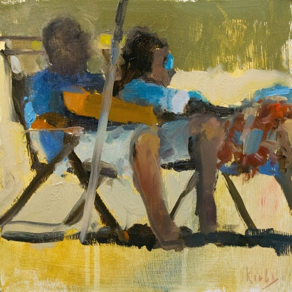 """Saturday at the Beach"" original fine art by Randall Cogburn"