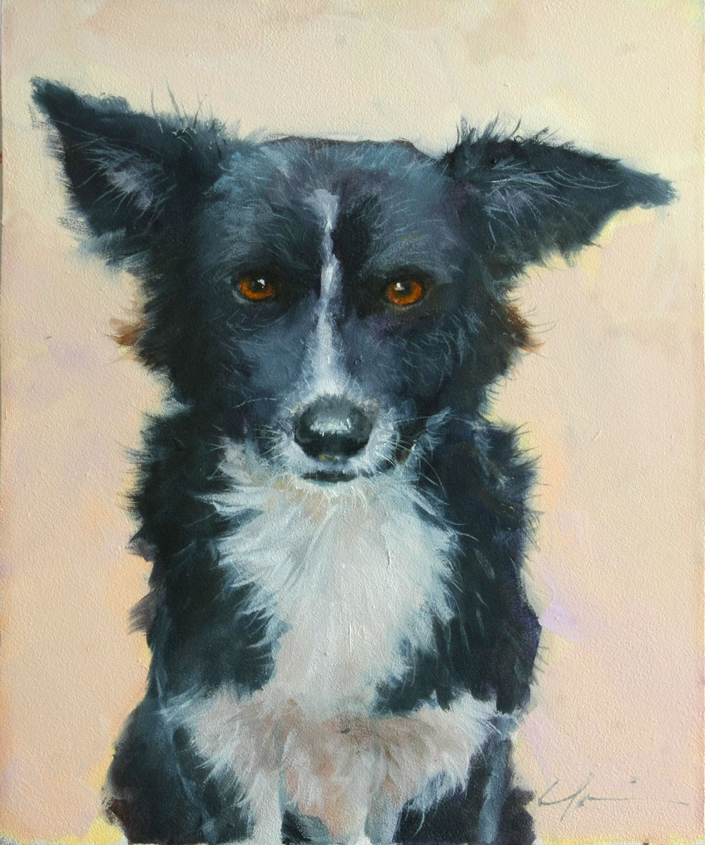 """Street Dog"" original fine art by Clair Hartmann"