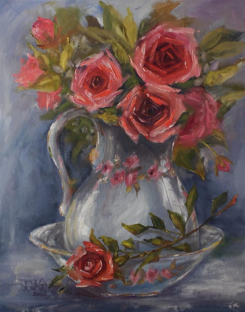 """Just Because I Love You floral painting by Alabama Artist Angela Sullivan"" original fine art by Angela Sullivan"