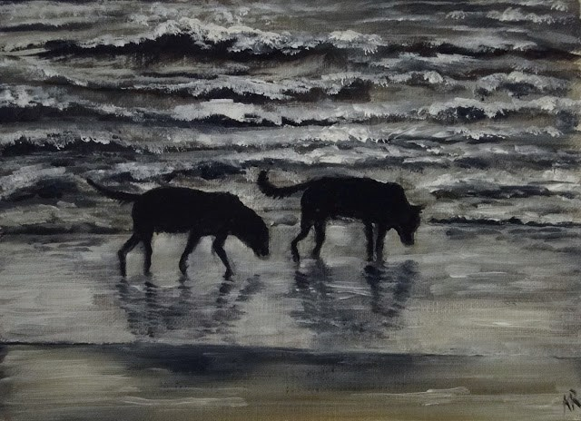 """Last Walk Before Bed"" original fine art by Karen Robinson"