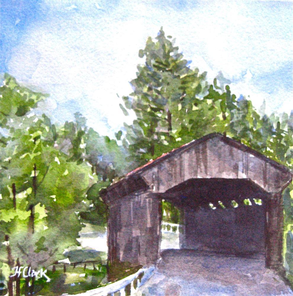 """Antique Bridge"" original fine art by Judith Freeman Clark"