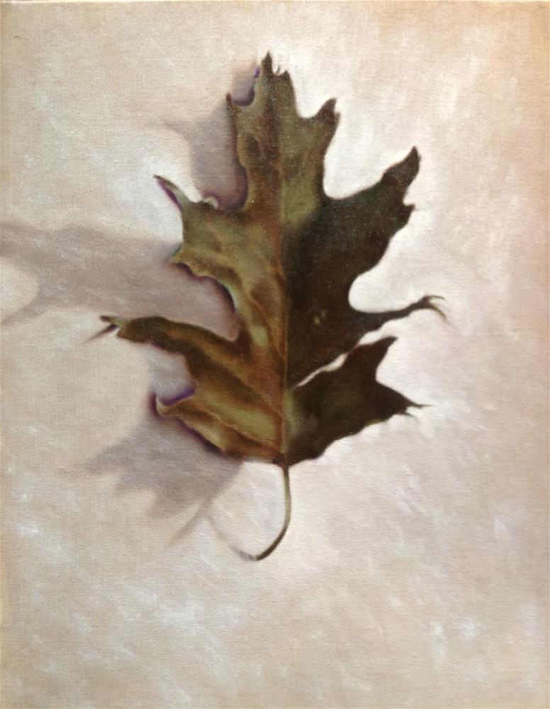 """Oak Leaf"" original fine art by Susan Hoffheimer"