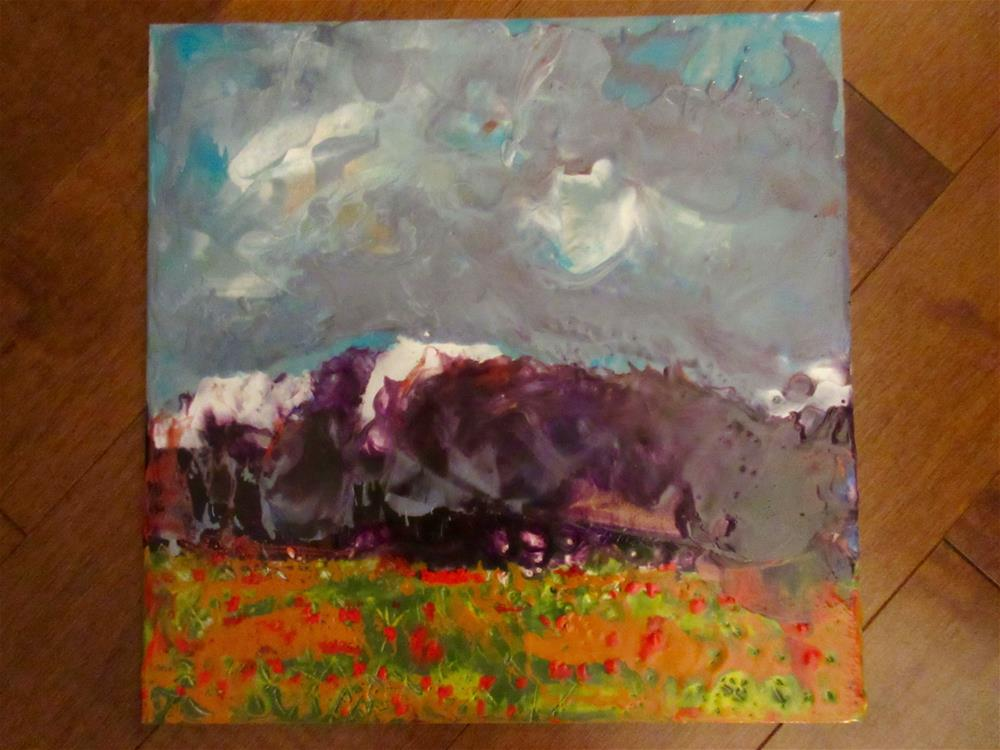 """Blooming Under Brewing Skies"" original fine art by kelly m jenkins"