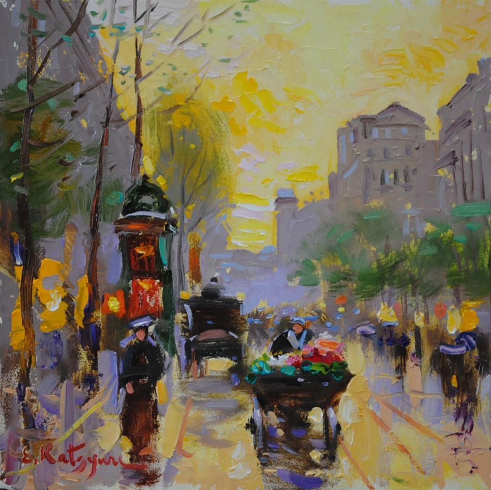 """Busy Sundown"" original fine art by Elena Katsyura"