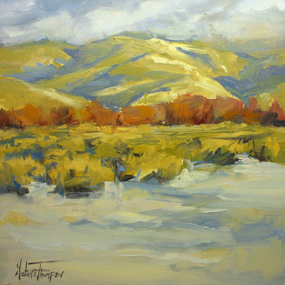 """Snow and Sage, Utah"" original fine art by Melanie Thompson"