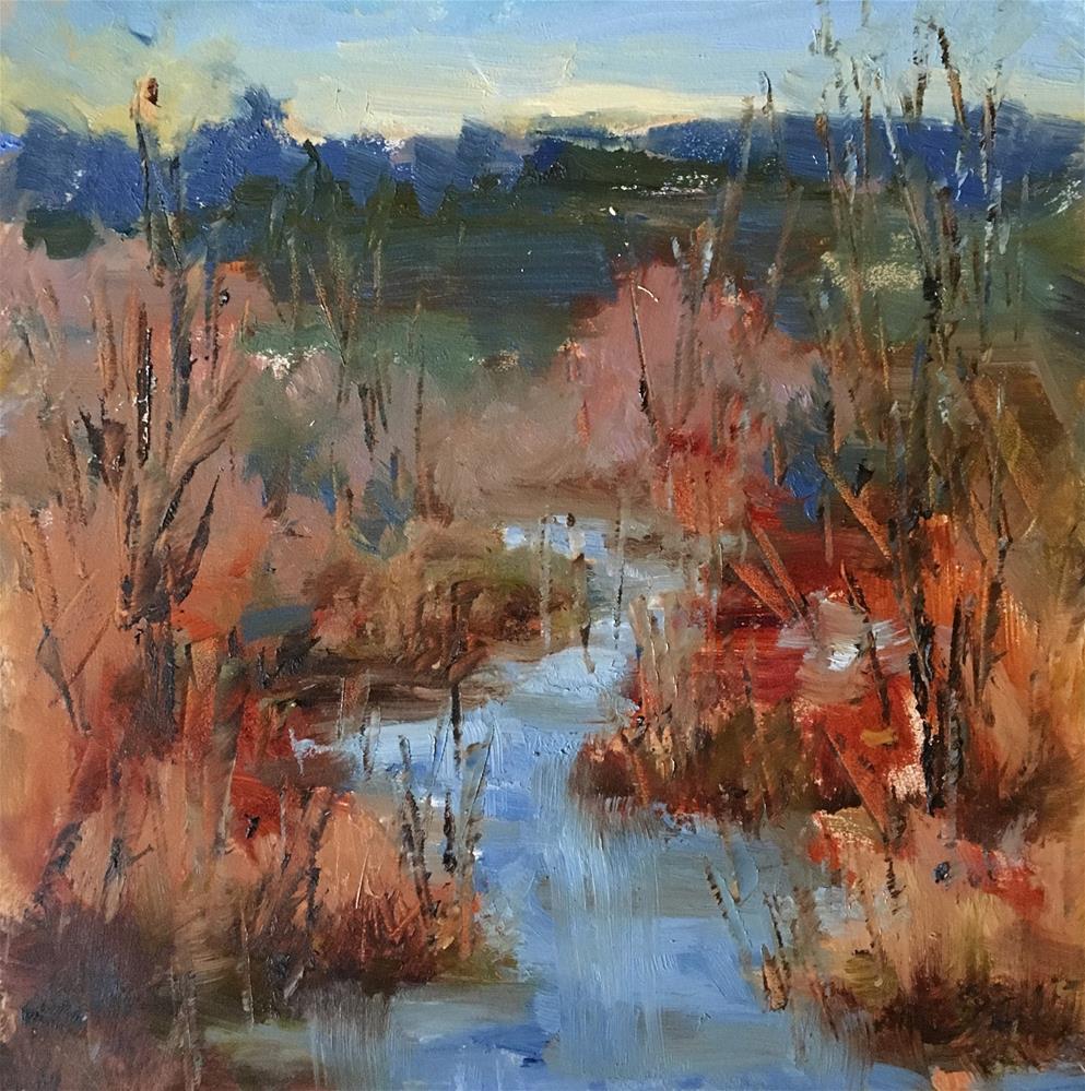 """Golden Gardens Creek"" original fine art by Victoria  Biedron"