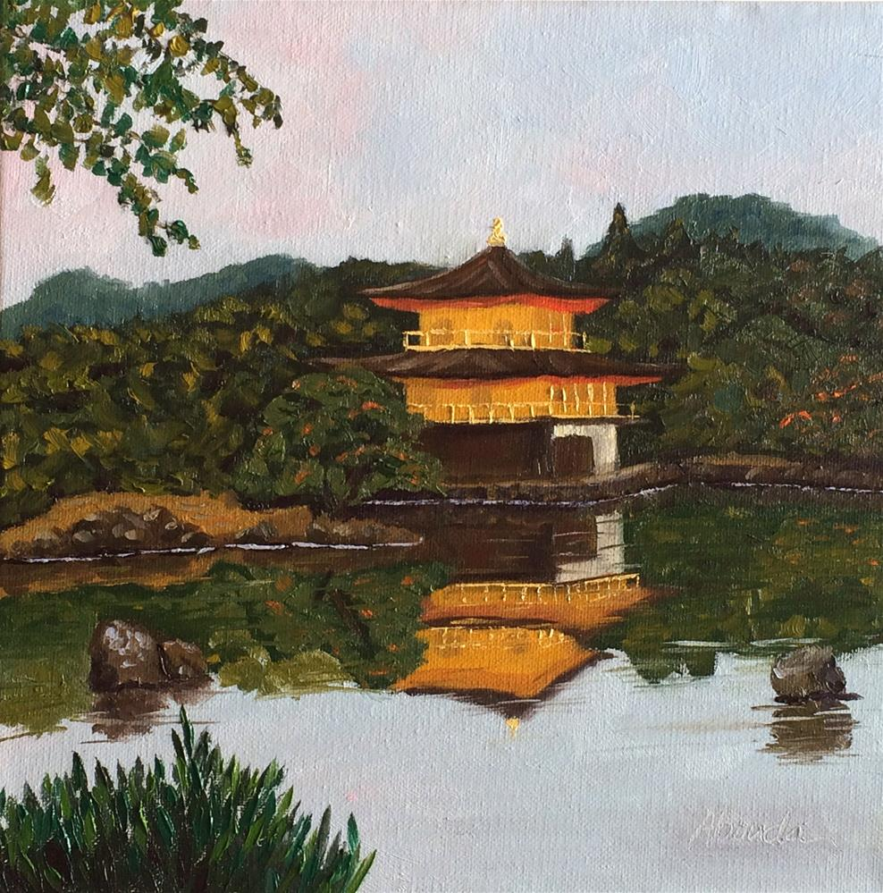 """The Golden Pavilion"" original fine art by Sandy Abouda"
