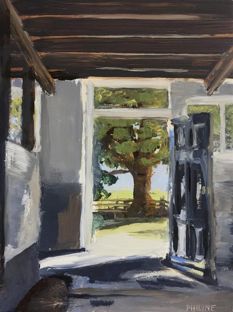 """""""Front door"""" original fine art by Philine van der Vegte"""
