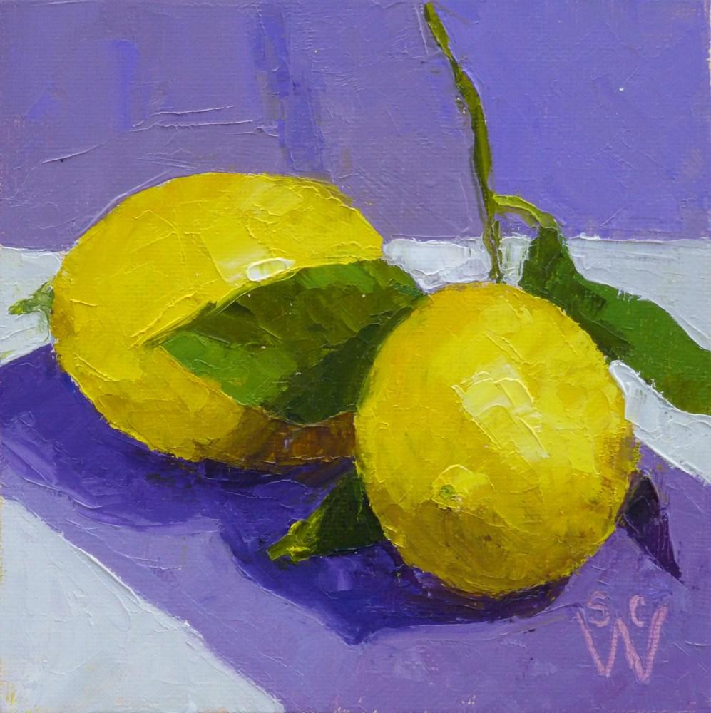 """Two Lemons"" original fine art by Susan Woodward"