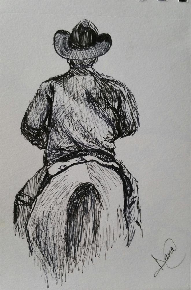 """Ridem-Cowboy"" original fine art by Dana C"