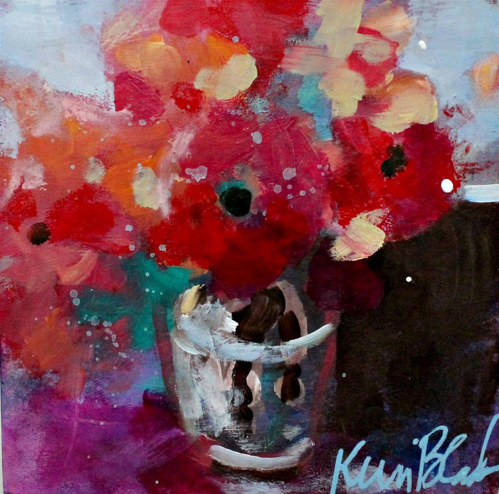 """Little Vase of Flowers "" original fine art by Kerri Blackman"