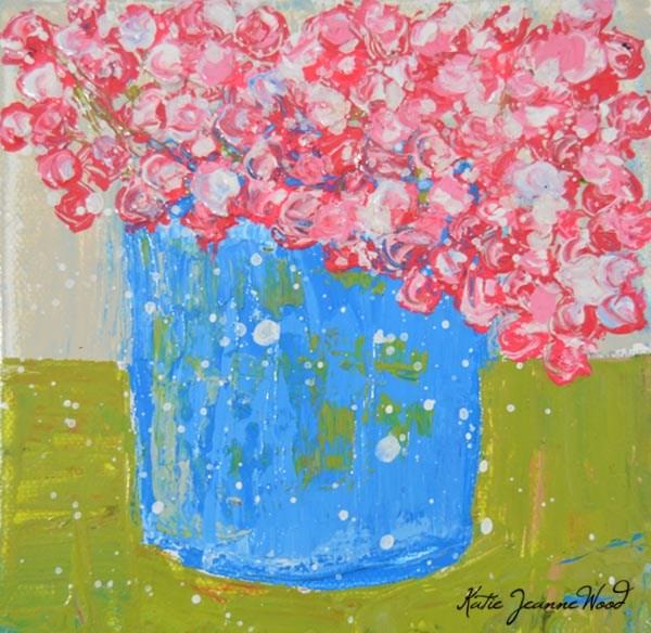 """Floral No 254"" original fine art by Katie Jeanne Wood"
