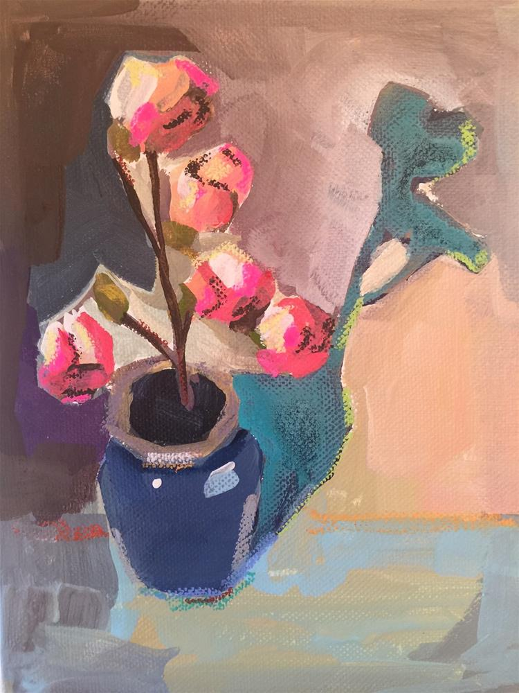 """503 Crunchy Petals"" original fine art by Jenny Doh"