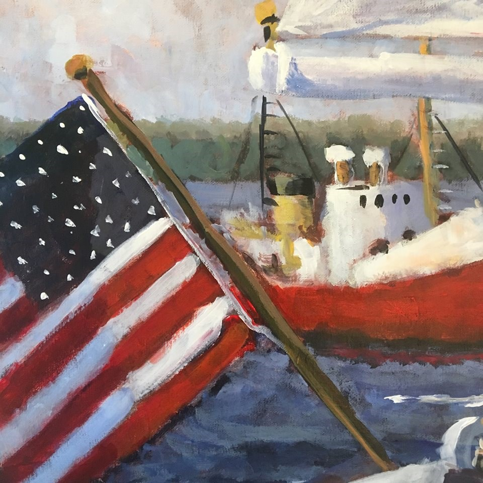 """Sailing"" original fine art by Susan Elizabeth Jones"