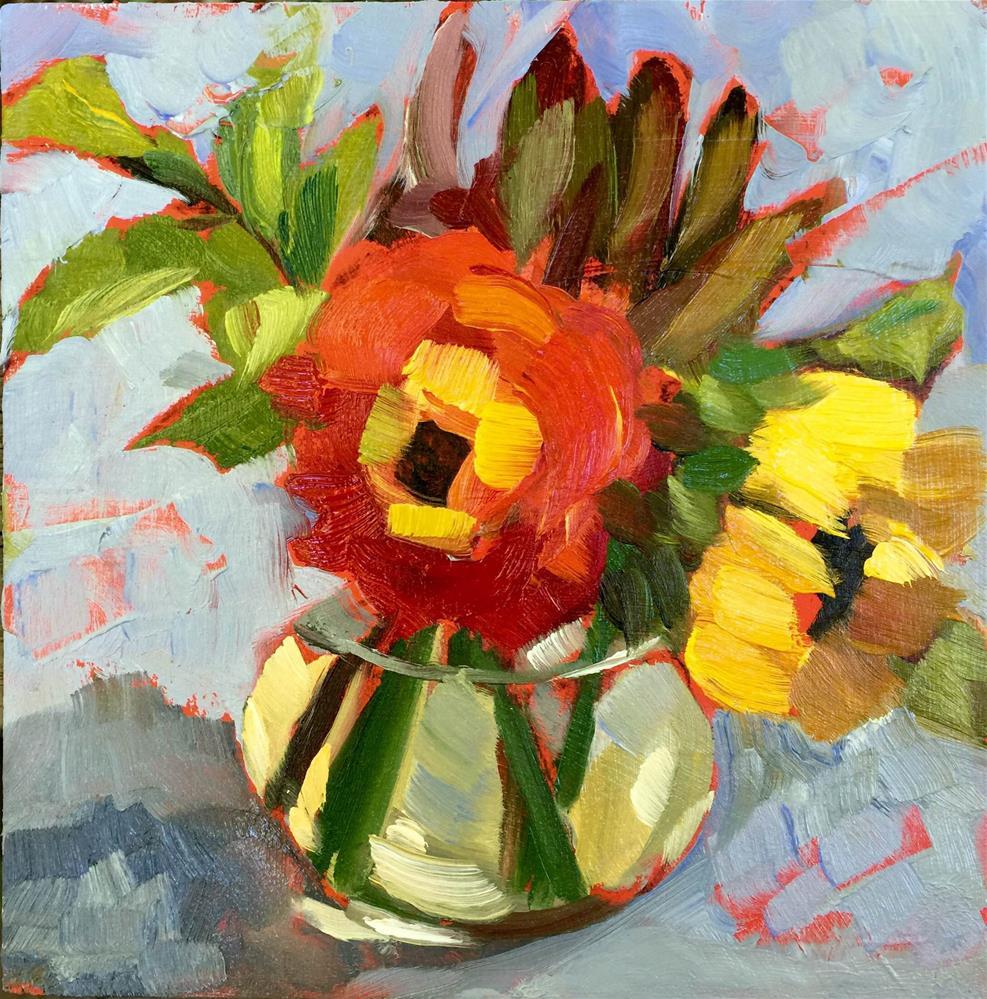 """Fractured Flowers"" original fine art by Martha Lever"