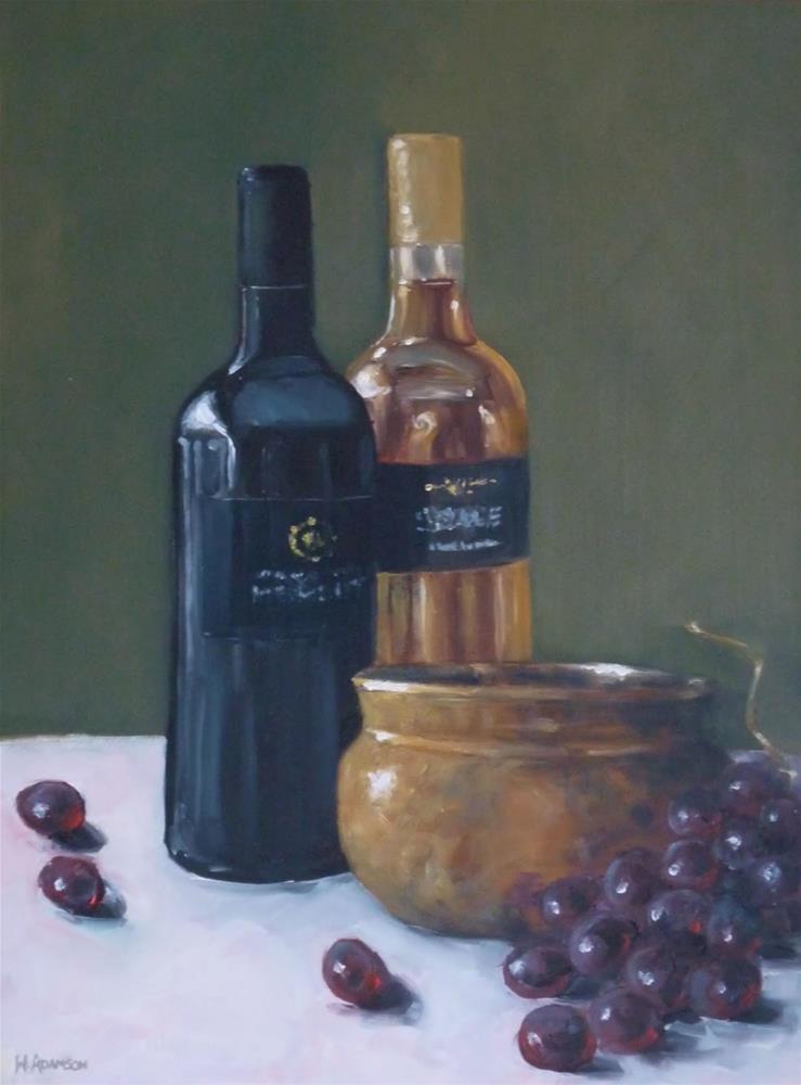 """Black and Gold"" original fine art by Helene Adamson"