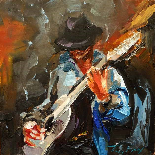 """Rockmusiker"" original fine art by Jurij Frey"