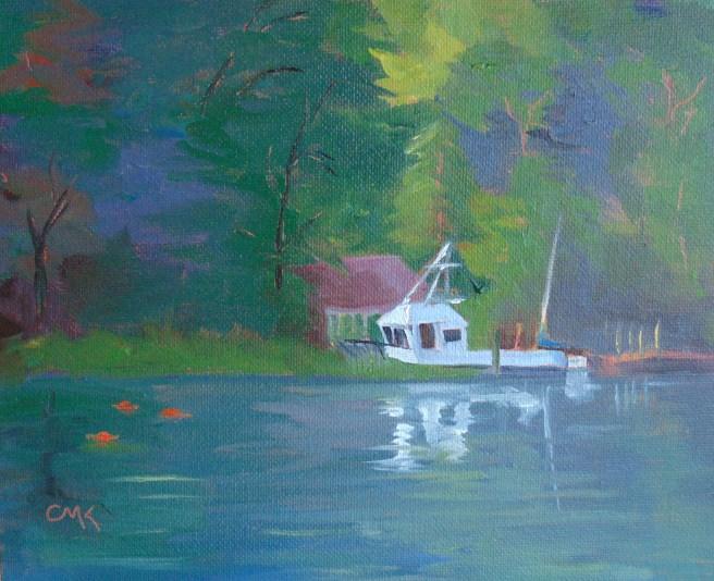 """Down Betts Mill Creek"" original fine art by Catherine Kauffman"